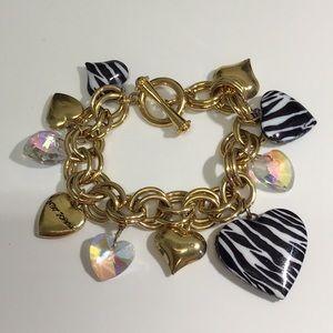 Vintage Betsy Johnson Dangle Locket Bracelet